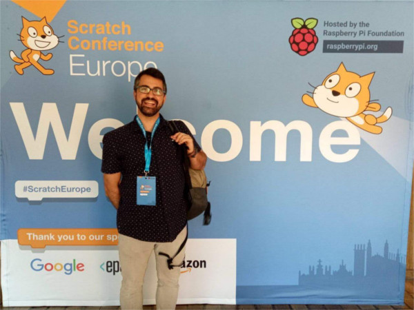 Pep Oliveras from Colectic at the Scratch Conference